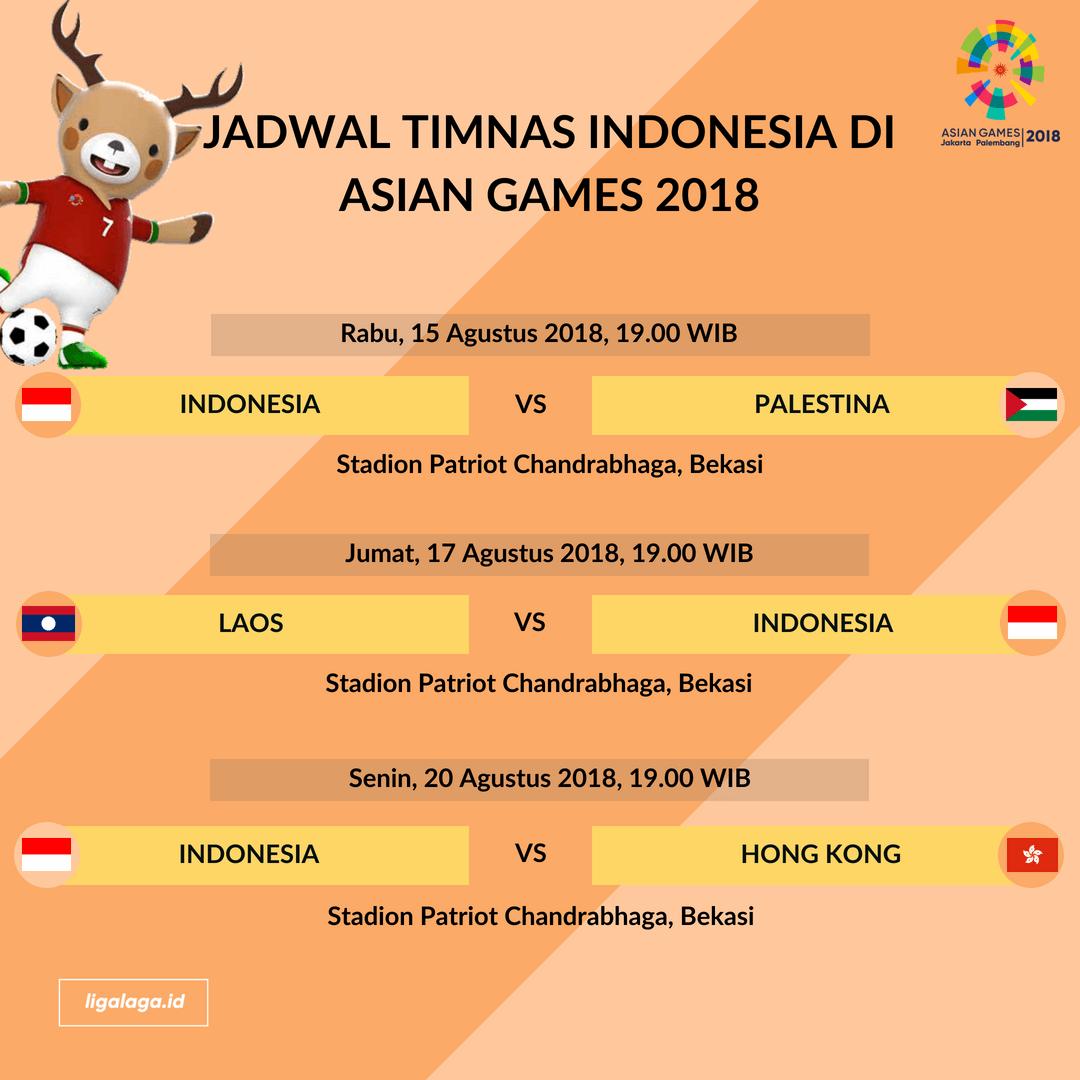 Indonesia U18 Vs Laos: Jadwal Timnas Indonesia Di Asian Games 2018